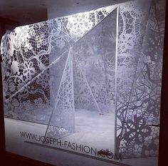 Joseph Fashion, London // Organza Lace in collaboration with Harlequin Design // May 2014 // http://ow.ly/y5YS7