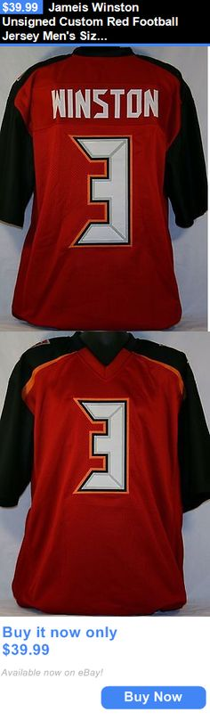 Sports Memorabilia: Jameis Winston Unsigned Custom Red Football Jersey Mens Size 2Xl BUY IT NOW ONLY: $39.99