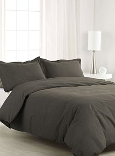 SCALABEDDING 500 TC 500/% Egyptian Cotton 1 Piece Duvet Cover Full Size Solid Black