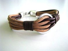 Items similar to Made to order Men's   leather  bracelet on Etsy