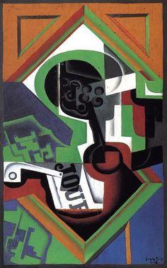 'Pipe y un frutero con las uvas', óleo sobre lienzo de Juan Gris (1887-1927, Spain)