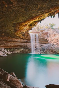 America's Most Beautiful Swimming Hole  Where: Hamilton Pool, Texas  Why We Love It: Located 30 miles west of Austin, the grotto at Hamilton Pool was created thousands of years ago when the dome of an underground river collapsed.