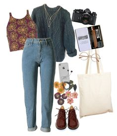 """college"" by julietteisinthe80s on Polyvore featuring Forever 21, Borders&Frontiers, Nikon, MM6 Maison Margiela and Diane Von Furstenberg"