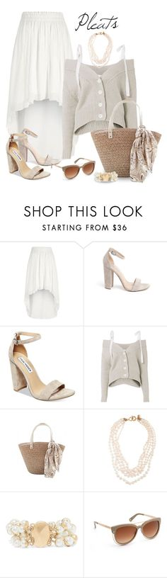 """Pleats"" by nicole-christie-mennen ❤ liked on Polyvore featuring River Island, Steve Madden, Adeam, J.Crew, Kenneth Jay Lane and Henri Bendel"