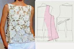 http://moms-notes.tumblr.com Блузы, топы, туники. Моделирование.