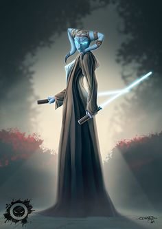 """Jedi Twi lek"" by Cdriko (www. Star Wars Clones, Rpg Star Wars, Star Wars Fan Art, Star Wars Clone Wars, Star Trek, Images Star Wars, Star Wars Pictures, Jedi Sith, Jedi Knight"