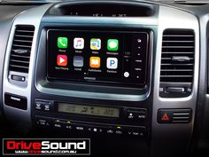 Toyota 120 Series Prado with Apple CarPlay installed by DriveSound.