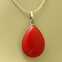 Red Coral Pendant Coral silver. Best as #Christmas #Jewelry #gift