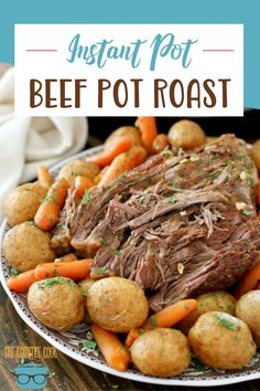 The Best Instant Pot Roast with carrots and potatoes that makes its own flavorful gravy. It's an entire meal made in the pressure cooker. Pressure Cooker Roast, Pressure Cooker Recipes, Pressure Cooking, Slow Cooker, Roasted Baby Potatoes, Instant Pot Pot Roast, Crockpot Recipes, Cooking Recipes, Beef Pot Roast