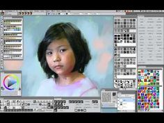 EXCERPT Corel Painter 12.2 Girl with Flower. View the amazing painting transition. Full tutorial available. http://winifredsgallery.com/store/ $95.00