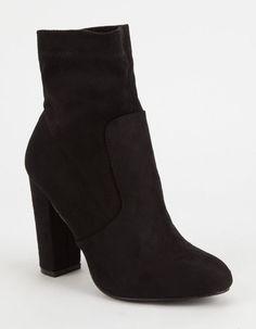 YOKI Faux Suede Womens Sock Boots