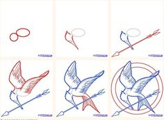 mockingjay drawing step by step - Google Search