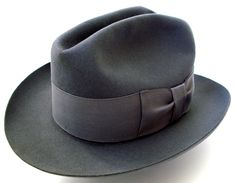Vintage 1920s Stetson Select Quality 7 1 8 Men's Gray Fedora Hat Featherweight | eBay