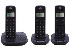 Telefone Sem Fio Motorola até 5 Ramais - Identificador de Chamadas Gate4000-MRD3