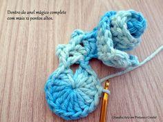Diandra Arte em Crochê: PAP FLOR ISADORA
