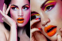 Love the orange lips!