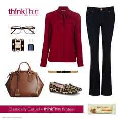 #thinkThin Classic Casual + Protein ***Change to skinny jeans and lose all purses ever