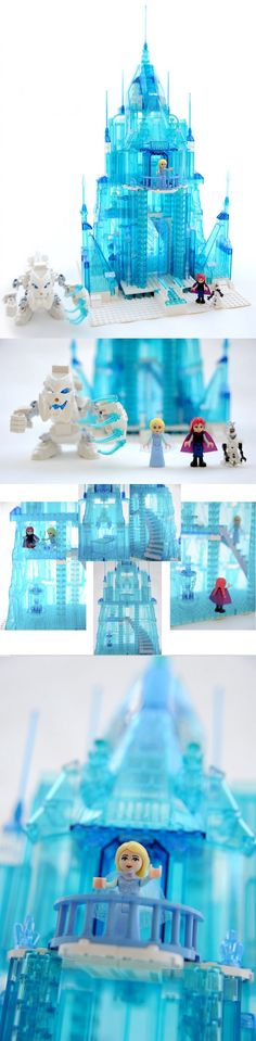 This is the conglomeration of all the pictures of Elsa's lego ice palace. Soooo cool!