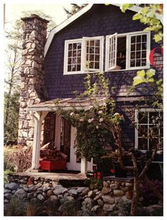 blue siding house country