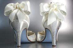 Wedding Shoes  Ivory Peep Toe Wedding Shoes by DesignYourPedestal, $265.00