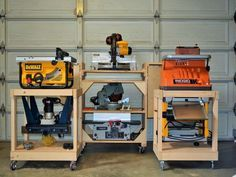 mobile carts for my garrop - by snoman @ LumberJocks.com ~ woodworking community