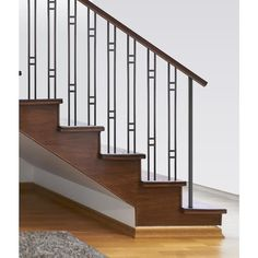 Indoor Stair Railing, Staircase Railing Design, Interior Stair Railing, Modern Stair Railing, Wrought Iron Stair Railing, Metal Handrails For Stairs, Stair Banister, Iron Railings, Banisters