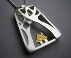 Lucy Palmer Jewellery : Jewellery : Into the Woods : The Little House in the Woods Pendant - Medium