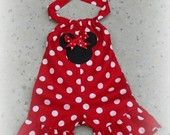 Custom Boutique Clothing Minnie Mouse Red Shortall