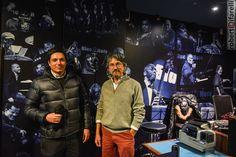 Diego Locatelli, owner di Spazio81 con l'amministratore delegato del Blue Note, Alessandro Cavalla, al #BlueNote di Milano