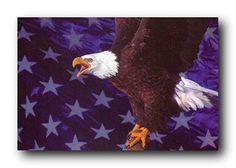 American Bald Eagle Flying Art//Canvas Print Wall Art Home Decor C Poster