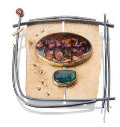 OAK Koroit Opal Frame Pin - Sydney Lynch Jewelry