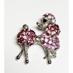 Poodle Pin Crystal