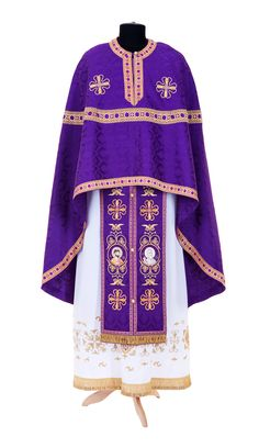 Greek Priest Vestment from the Workshop of St. Elisabeth Convent - Handmade - To…