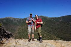 A friend an I after taking the Franconia Ridge. Franconia National Park New Hampshire.