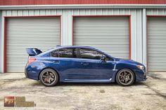 2015 Subaru WRX STi in Galaxy Blue Pearl
