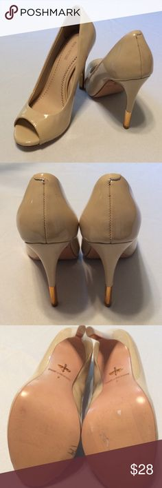Pour la Victoire Peep Hole Pumps Very good condition...couple of scuff marks on side.See 4th picture. Beautiful pumps with gold accent..great deal. Pour la Victoire Shoes