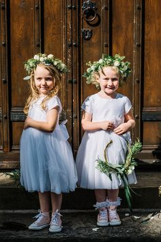 Two polka dot skirts for a weekend wedding festival. Photography by Kerry Woods.