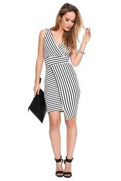 Angelica Stripe Midi Dress