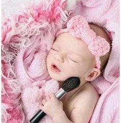 Повязка с бантом для новорожденной девочки крючком