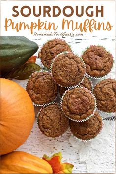 Make sourdough pumpkin muffins with your discard sourdough starter. These pumpkin muffins are light, tender and flavorful! Create amazing pumpkin muffins for your family with you unused discard. Sourdough Muffin Recipe, Sourdough Starter Discard Recipe, Sourdough Recipes, Yeast Starter, Pumpkin Dishes, Pumpkin Muffin Recipes, Monkey Bread, Biscuits, Artisan Bread Recipes