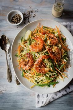 [New] The 10 Best Food Ideas Today (with Pictures) - Salade asiatique ce midi Bon appétit ! Asian Recipes, Gourmet Recipes, Healthy Recipes, Ethnic Recipes, Salad Dressing Recipes, How To Cook Quinoa, Fish And Seafood, Summer Recipes, Entrees