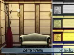 The Sims Resource: Zella Walls by Ineliz • Sims 4 Downloads