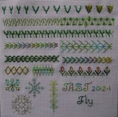 Here is my first TAST effort: Week One- Fly Stitch. Sharon Boggon's T ake A S titch T uesday challenge to explore various embroidery stitch...