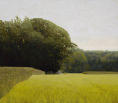 marc bohne, Field near Horseneck, 39 x 46 inches, oil on panel