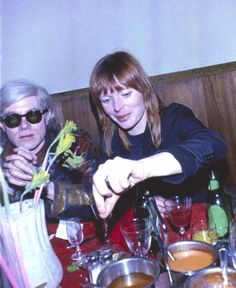 Max's icon #Nico is this week's #WCW. Seen here with #AndyWarhol at Max's in 1968. Photo by Billy Name/Kymara Artistic Management
