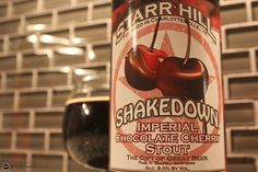 Starr Hill Shakedown Imperial Chocolate Cherry Stout. Brewed with cherry purée & cocoa powder. Seasonal. 8%
