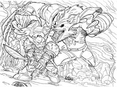 Cory Smith World Of Warcraft Pitch Adult Coloring Pages