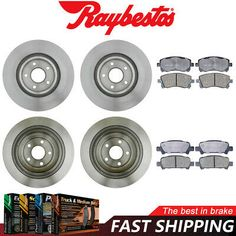 Semi-Met Brake Pads For 1999 Volkswagen Jetta Rear eLine Plain Brake Rotors