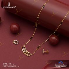 Gemstone Mangalsutra gms) - Gemstone Jewellery for Women by Jewelegance Jewelry Design Earrings, Gold Earrings Designs, Gold Jewellery Design, Gold Chain Design, Necklace Designs, Antique Jewellery Designs, Gold Ring Designs, Indian Jewelry Sets, Women Jewelry