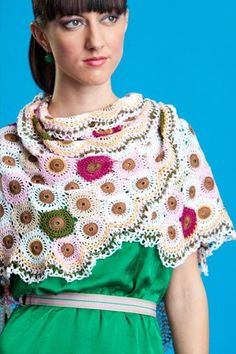 Here's my Garden 10 shawl. It's the cover for Interweave Crochet Spring 2012